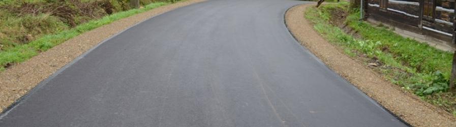 Droga powiatowa w Zawadce Rymanowskiej po remoncie