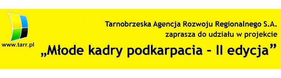 """""""Młode kadry podkarpacia – II edycja"""" - zaproszenie do projektu"""