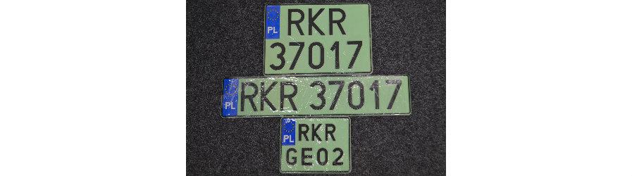 Zielone tablice dla aut elektrycznych i wodorowych