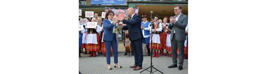 Marszałek Sejmu RP Elżbieta Witek na ziemi krośnieńskiej